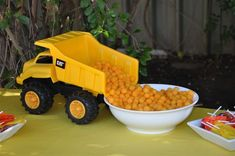 Construction Party - use a dump truck for serving treats!