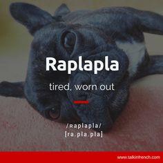 Raplapla,hecho polvo,persona sin energía,(también pelo sin volumen,aplastado)