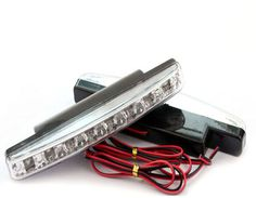 12V DRL Super Bright White 8W 6500K COB LED Universal Waterproof  Driving Daytime Running Lightslamp 0.12kg 15.5cm 1 pair -- You can find more details by visiting the image link.
