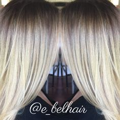 Blonde ombré, stretched root for fall