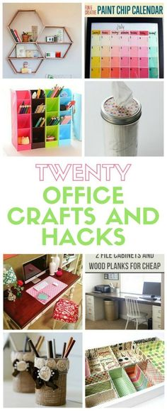 Organize your office space with these DIY office crafts and hacks. These ideas will leave your space functional, organized and a place you'll love to be!
