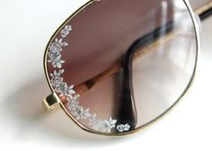 Lace Aviator Sunglasses | Studs & PearlsI use a packet of nail decals to decorate sunglasses