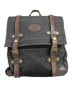 Black Buckle Backpack by J. Campbell