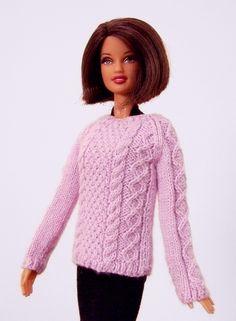 Doll Sweater Fashion Doll Sweater Knit Doll от angharadgruffyd