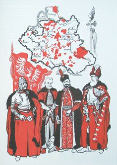 Polish-Lithuanian Commonwealth - costumes of the military leaders, 16th-18th centuries.