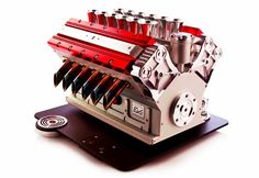 The espresso machine pictured above is a luxuriously designed coffee maker that mimics engine. A Formula 1 racing fan would definitely fancy this coffee machine manufactured by Espresso Veloce.
