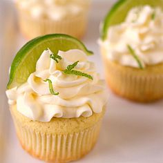 I think I'm going to have to make these Margarita Cupcakes !