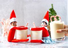Candy Cane White Russian and a couple of drunk elves | Kate the baker