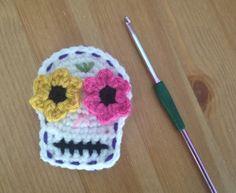 Crochet by Danelle Rae: Sugar Skull Motif. FREE PATTERN 11/14.