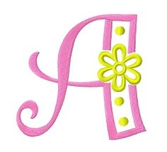 Daisy Flower Letters - 2 Sizes! | Alphabets | Machine Embroidery Designs | SWAKembroidery.com Fun Stitch