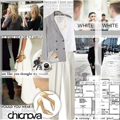 """""""WHITE ON WHITE"""" by kwop-kilawtley ❤ liked on Polyvore"""