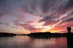 Coucher de soleil sur Rhone, Ciel, Nuages, Soleil - MonSitePhotos.com