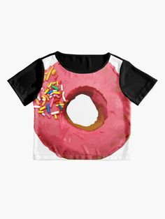 """""""Strawberry with Sprinkles Pink Donut Lover Tasty, Delicious, Sweet Dessert Food for Birthdays, Party and Snacks"""" Women's Chiffon Top by Maricrism 