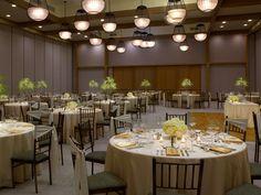 Sophisticated, elegant wedding reception.