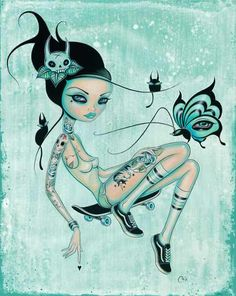 Caia Koopman's Pop Surreal Pin-Ups: SkaterGirl.jpg