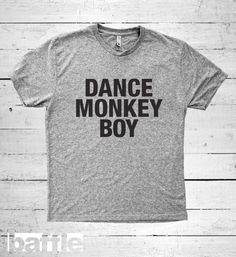Baffle Tees / Dance Monkey Boy Men's Tri-Blend by BaffleTeesShop