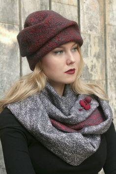 Купить Валяная Шапочка Классика - букле, шапочка, красивая шапка, головные уборы для женщин