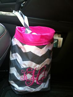 Cutest Grabage bag for the car on Etsy, $15.00