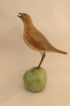 Song Truush Bird Sculpture, Bronze, Birds, Bird