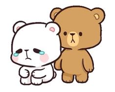 Animated gif shared by Kikis Cantú. Find images and videos about gif, couple and kawaii on We Heart It - the app to get lost in what you love. Cute Couple Cartoon, Cute Cartoon, Cute Bear Drawings, Crying Gif, Bear Gif, Hug Gif, Cute Love Gif, Dibujos Cute, Line Friends