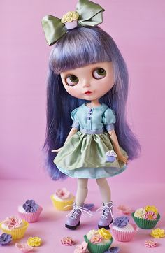 aqua cupcake by JennWrenn, via Flickr