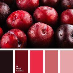 burdeos y rosado, color azul ciruela, color burdeos, color casi negro, color ciruela, color rojo ciruela, color rosa polvoriento, marrón, marrón burdeos, rojo sonrosado, rosado pálido, tonos rosados.