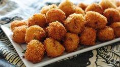 LOADED CHEESY MASHED POTATO BALLS - Should I tell you now that these cheesy mashed potato balls are fried? Sealed the deal. I know.