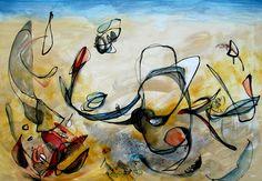 "Acrylic 2014 Painting """"Across The Expanse"" "" Create Words, Magazine Art, Acrylic Painting Canvas, The Expanse, Saatchi Art, Artists, Journal Art"