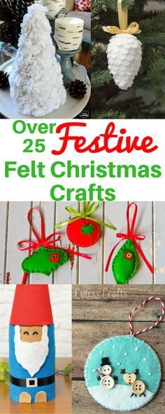 More than 25 festive Felt Christmas Crafts and projects for every skill and age to help you turn your home into a Felt Christmas Wonderland.   www.sahmplus.com