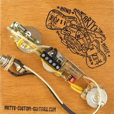 Arty's relic aged Custom Shop Guitars Gallery, prewired Kit Harness Assembly, wiring Diagram Telecaster Stratocaster P Bass J Bass Les Paul jr. Les Paul Jr, Custom Guitars, Kit, Personalized Items, Vintage, Vintage Comics