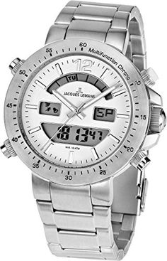 Jacques Lemans Mens 11713D Milano Sport Analog with AnalogDigital Display Watch * You can find out more details at the link of the image.Note:It is affiliate link to Amazon.