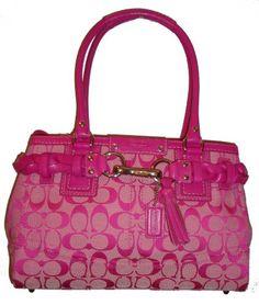 pink coach purse | ... Carryall Bag Purse Tote 13065 Hot Pink - Coach Handbags - Zimbio