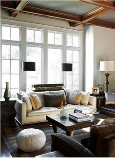 Love the mix of furniture