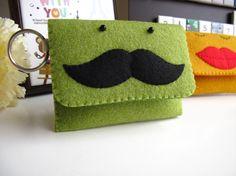 Mr. mustache coin purse