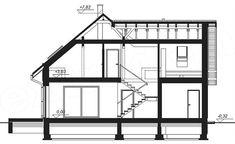 Rzut projektu Galilea BIS House Plans, Floor Plans, How To Plan, Modern, Furniture, Home Decor, Collections, Country Houses, House