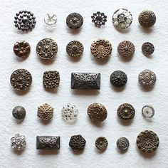 pretty antique Victorian buttons