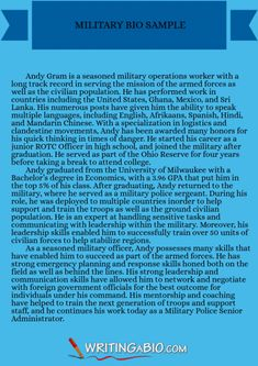 http://www.biographywritingservices.com/military-biography-format ...