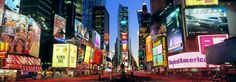 Panoramic View Of Times Square At Dusk Mural - Andrew Prokos  Murals Your Way