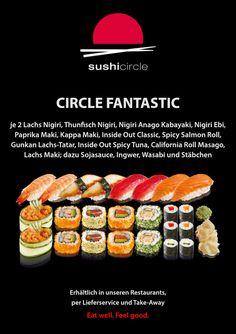 Sushi Circle, Sushi Restaurants, Html, Ethnic Recipes, Food, Salmon, Simple, Essen, Meals
