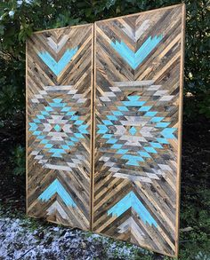 Rustic Tribal Aztec Wood Wall Art By Bayocean Rustic Design