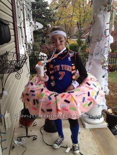 Coolest Dunkin Doughnut Costume for a Girl ... This website is the Pinterest of costumes