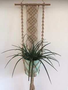 Macrame Geknoopte Plantenhanger plant holder hanging