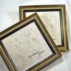 5x5in Gold Photo Frame with Pale Grey Green by mackenzieframes, $20.00