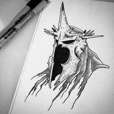 Gonna tattoo this Witch King soon! #bloodspire #tattoo #flash #art #LOTR #lotrtattoo #witchking #witchkingofangmar #jrrtolkein