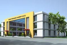 Residential Building Design, Architecture Building Design, Building Facade, School Architecture, School Floor Plan, School Plan, School Building Design, School Design, Hacienda Style Homes