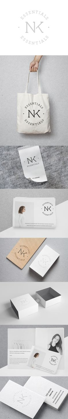 N.K Essentials branding by Smack Bang Designs #Branding #Logotype #GraphicDesign