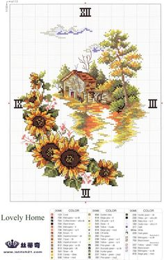 Cross-stitch Home & Sunflowers Clock, part 2...   Gallery.ru / Photo # 32 - 2k - miroslava388