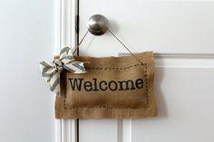 Welcome Door Hanger by Creazi on Etsy