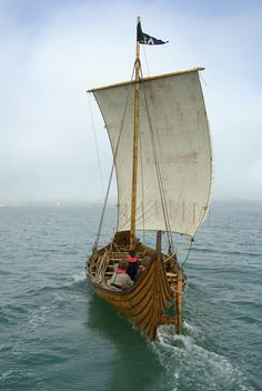 Viking ship replica Tyra, based in Hardanger, Norway.