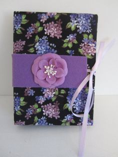 Black Purple and Green Floral Print with Purple by TheElegantLady